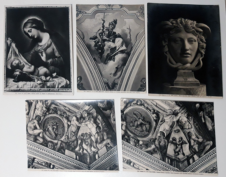 26 ANCIENT BLACK AND WHITE PHOTOGRAPHS 1800 1900 - ALINARI PHOTOS - PHOTOS OF ART WORKS OF MUSEUMS
